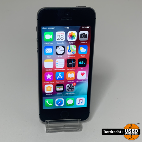 iPhone 5S 16GB Space Gray || Met garantie