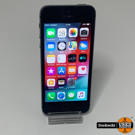 iPhone 5S 16GB Space Gray    Met garantie