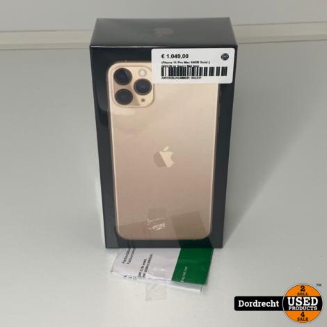iPhone 11 Pro Max 64GB Gold || NIEUW in Seal || Met bon || Met garantie
