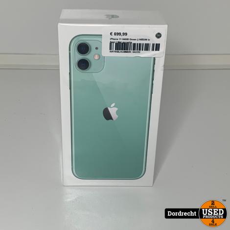 iPhone 11 64GB Green    NIEUW in Seal    Met garantie