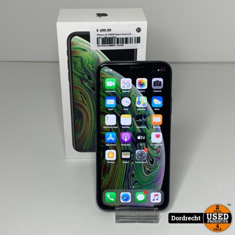 iPhone XS 256GB Space Gray    In doos    Met garantie