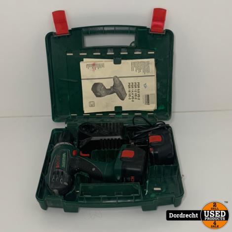 Bosch PSR 12 VE-2 accuschroefboormachine    Met 2 accu's en lader    In kist    Met garantie