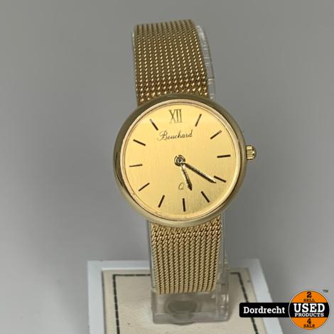 Bouchard 14 Karaat Gouden Dames horloge || In originele doos || Met extra schakels