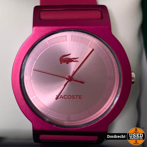 Lacoste Horloge Roze || In doos || Batterij leeg || Met garantie