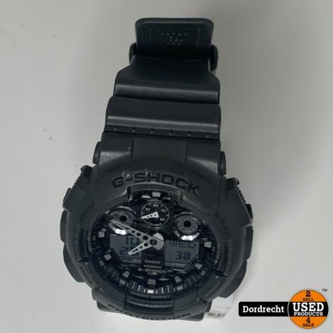 Casio G-Shock GA-100F horloge Zwart || Met garantie