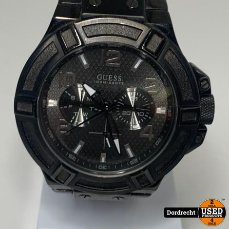 Guess horloge heren zwart || Met garantie