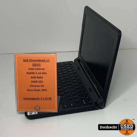 Dell ChromeBook P22T 11 (2015) | Intel 2.16 GHz | 4GB RAM | 16GB SSD | Chrome OS | Met garantie