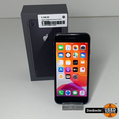 iPhone 8 64GB Space Gray || In doos || Met garantie