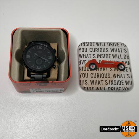 Fossil heren Horloge JR1401 || Zwart staal || In doos || Met garantie