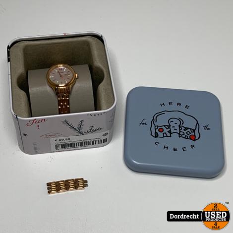 Fossil dames Horloge BQ3333 | Rose goud | Met extra schakels | In doos | Met garantie