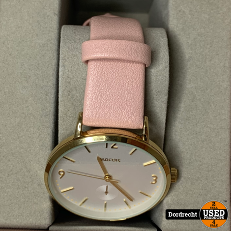Parfois dames Horloge    Roze / Goud    In doos    Met garantie