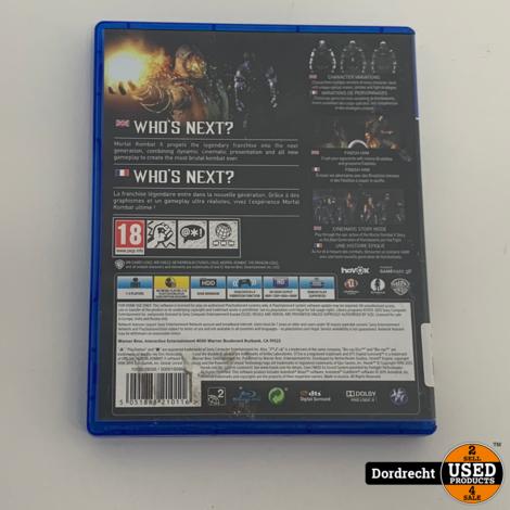 Playstation 4 Spel    Mortal Kombat X