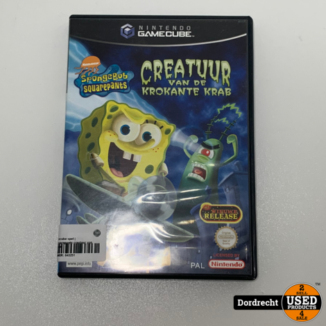 Nintendo Gamecube spel | Spongebob squarepants creatuur van de krokante krab