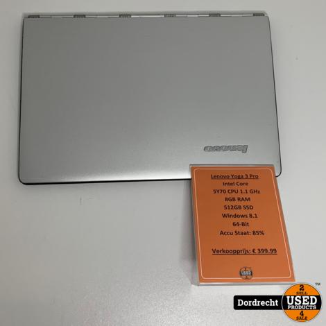 Lenovo Yoga 3 Pro Laptop en Tabet in 1 | 5Y70 CPU 8GB RAM 512GB SSD Windows 8 | Met garantie