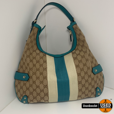 Gucci Monogram Medium Bag Blue Handtas || Met garantie
