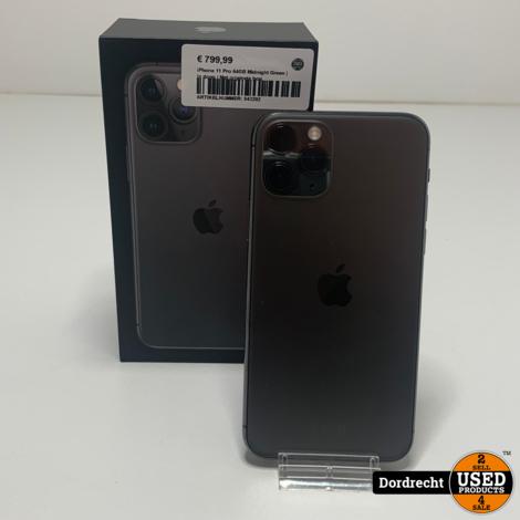 iPhone 11 Pro 64GB Midnight Green   In doos   Met originele bon