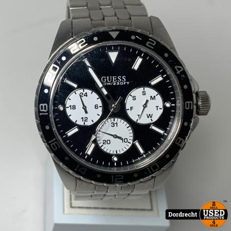 Guess stalen herenhorloge w1107g1 || Met garantie