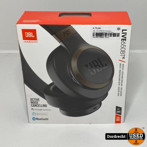 JBL LIVE 650BTNC Draadloze over-ear hoofdtelefoon met noise cancelling | In doos | Met originele bon