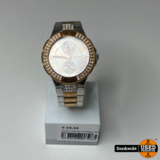 Guess Dames Horloge | Staal / Rosegoud | Met garantie