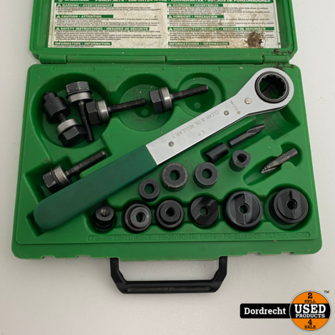 Greenlee 36692 punch set | In koffer | Met garantie