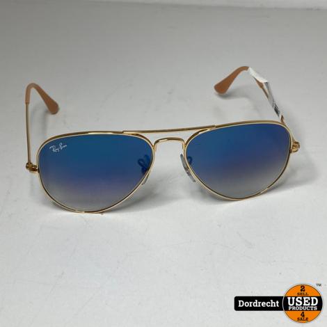 RayBan Aviator 55014 Zonnebril blauw glas | Met hoes || Met garantie