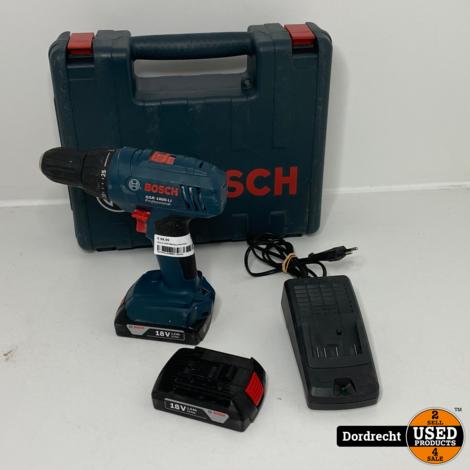 Bosch GSR1800 Boormachine || In kist || Met 2 accu's en lader || Met garantie