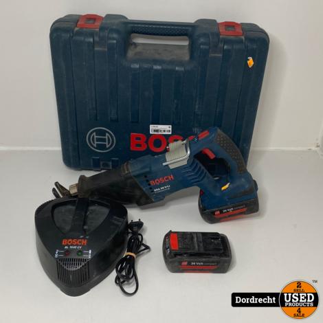 Bosch GSA 36 V-LI Recipozaag 2x 36V accu    In koffer    Met garantie