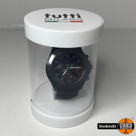 Tutti Milano Horloge | Zwart | NIEUW in doos | Met garantie
