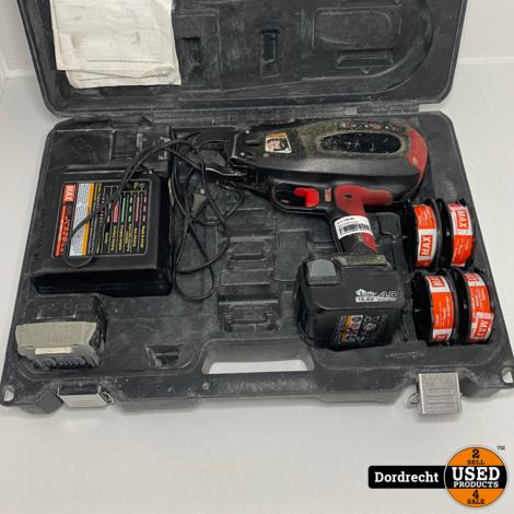 MAX RB398 Rebartier Betonvlechtmachine   Met 2 accu's en lader in koffer   Met garantie