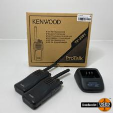 Kenwood TK-3501 Portofoon || Set van 2 || Met lader || Met garantie