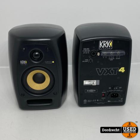 KRK VXT4 Studio Speakers | Set van 2 | 1 van de 2 kraakt | In doos | Met garantie