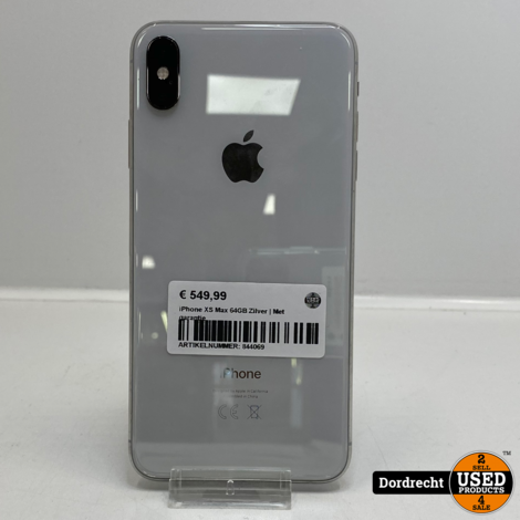 iPhone XS Max 64GB Zilver | Met garantie