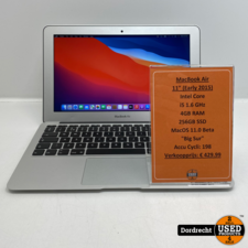 Macbook Air 2015 11inch   i5   256GB   4GB RAM   Met garantie