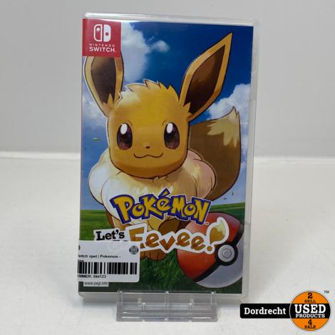 Nintendo Switch spel   Pokemon - Let's go Eevee