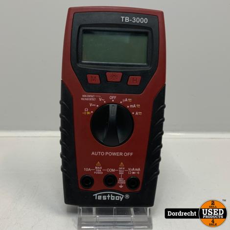 Testboy TB-3000 Multimeter Digitaal CAT IV 600 V | In tas | Met garantie