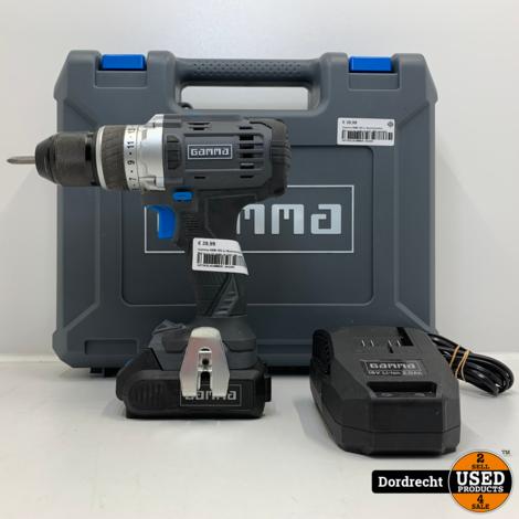 Gamma ABM 18V-LI Boormachine   Met accu en lader in kist   Met garantie