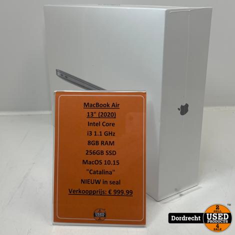 Macbook Air 2020 13Inch Intel Core i3 8GB Ram 256GB SSD | Nieuw in seal | Met garantie