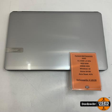 Packard Bell Easynote LE69KB laptop | AMD 4GB Ram 500GB HDD Windows 10 | Met garantie