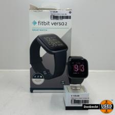 Fitbit Versa 2 Zwart | In doos | Met garantie