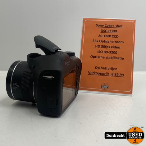 Sony Cyber-Shot DSC-H300 Camera | Op batterij | Met garantie