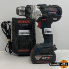 Bosch Blauw GSR 18 V-85 C Accu Schroefboormachine | Met lader en accu | Met garantie