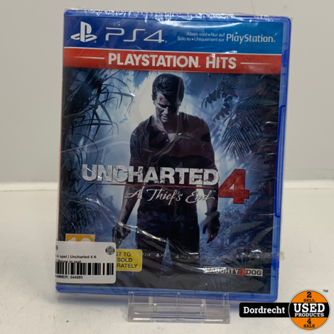 Playstation 4 spel | Uncharted 4 A thief's end | NIEUW in seal