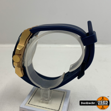 Guess W0247G3 Horloge Goud | Blauwe band | Met garantie
