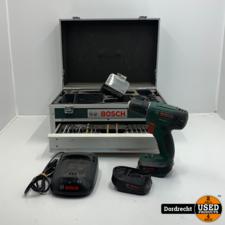 Bosch PSR 14.4 LI Boormachine | Met 2 accu's en lader | In kist | Met extra's | Met garantie