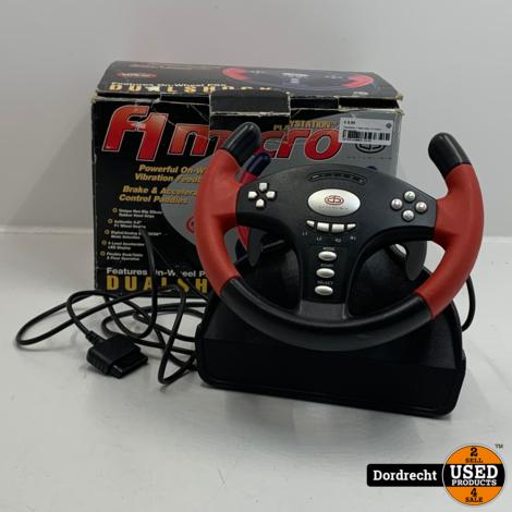 Playstation 2 Race stuur | In doos | Met garantie