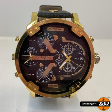 Diesel Horloge | Zwart en goud | Met garantie