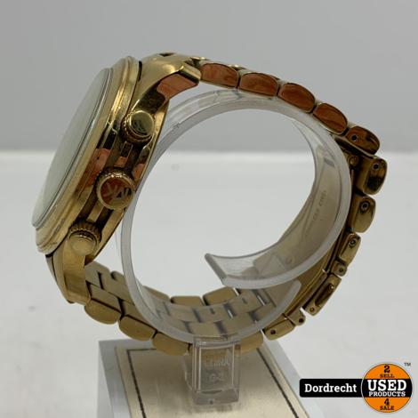 Michael Kors MK8077 Horloge Goud | Met garantie