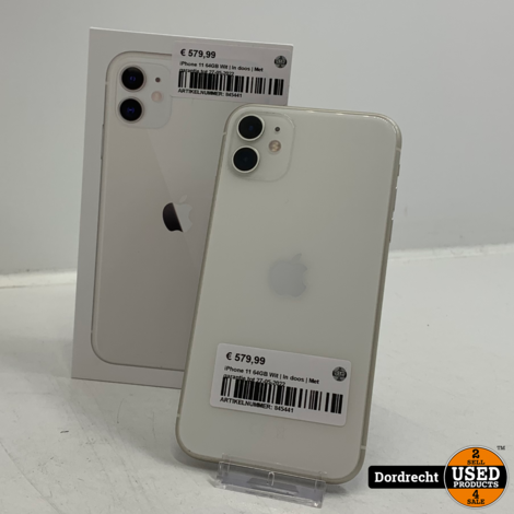 iPhone 11 64GB Wit | In doos | Met garantie tot 27-05-2022
