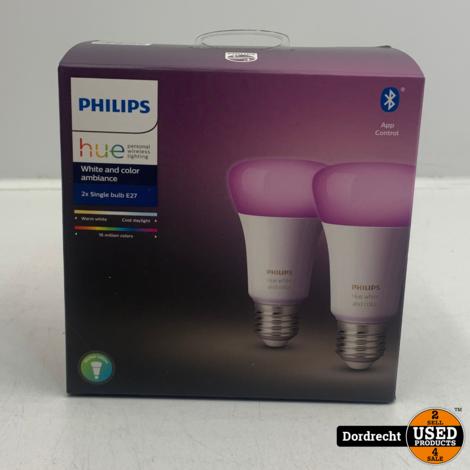 Philips Hue 2x Single Bulb E27 | Nieuw in seal | Met garantie