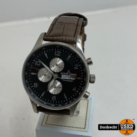 Jacques Lemans Horloge Bruin | Met garantie